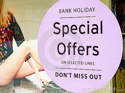 Special offers, retail incentive.