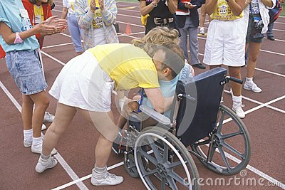 Special Olympics athlete in wheelchair, Editorial Stock Photo