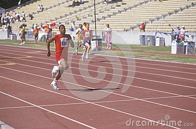 Special Olympics athletes running race Editorial Photo