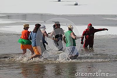 Special Olympics Nebraska Polar Plunge Editorial Stock Photo
