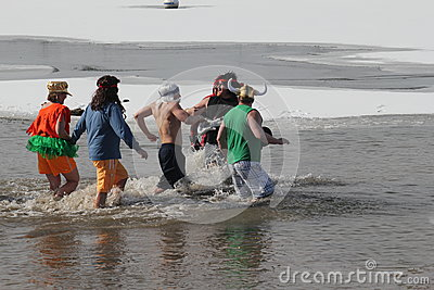 Special Olympics Nebraska Polar Plunge Editorial Photo