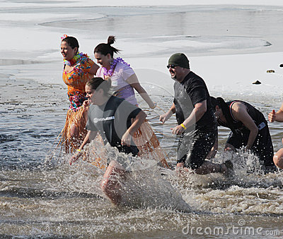 Special Olympics Nebraska Polar Plunge Editorial Image