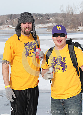 Special Olympics Nebraska Polar Plunge with costumed participants Editorial Stock Image