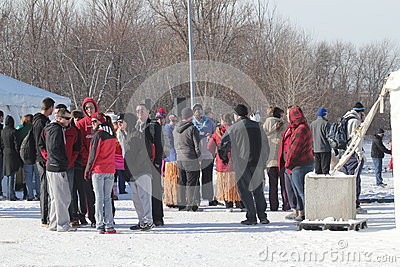 Special Olympics Nebraska Polar Plunge Crowd Editorial Stock Image