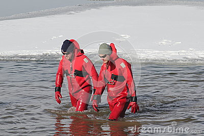 Special Olympics Nebraska Polar Plunge Safety Divers Editorial Stock Photo