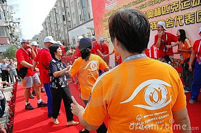 Special olympics world summer games shanghai 2007 Editorial Stock Image