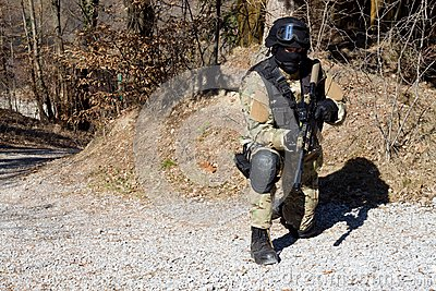 Special police unit, masked police