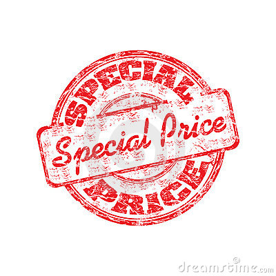 Special price rubber stamp