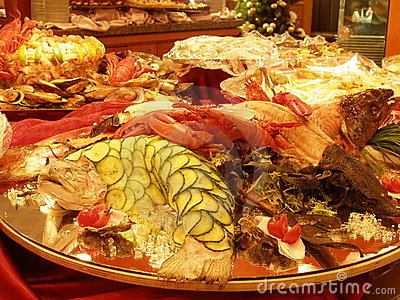 Special seafood table