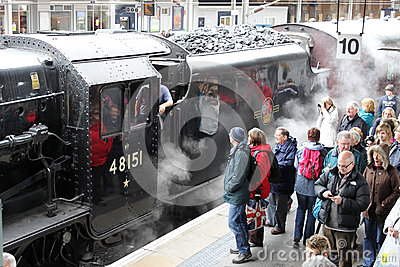 Special steam train - Carnforth to York Editorial Stock Photo