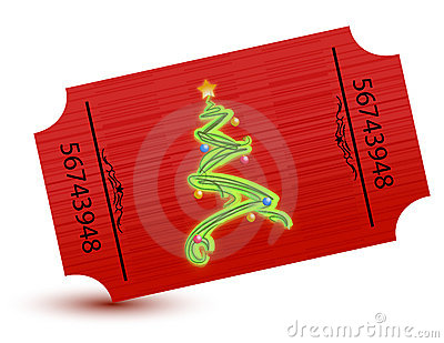 Special ticket for the christmas party
