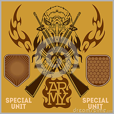 Free Special Unit Military Patch - Vector Set Stock Image - 51525171