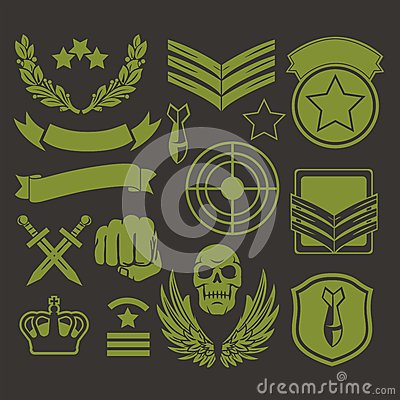 Free Special Unit Military Patches Royalty Free Stock Images - 47585249