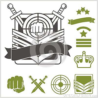 Free Special Unit Military Patches Stock Photos - 47585253