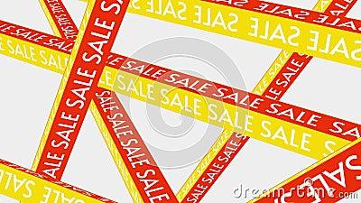 Speciale aanbieding voor verkoopbevordering voor banner Mega Sale Sale Campaign Yellow and Red Price Tag Discount animatiesleutel vector illustratie