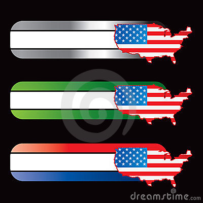 Specialized banners with american icon flag