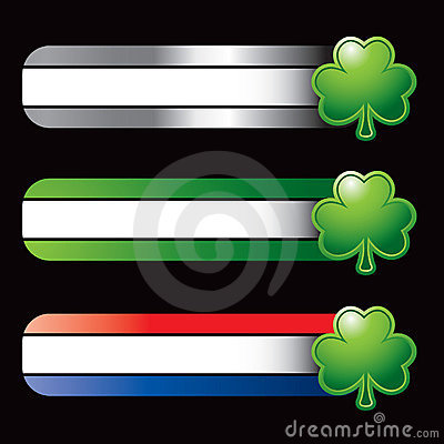 Specialized banners with green shamrock