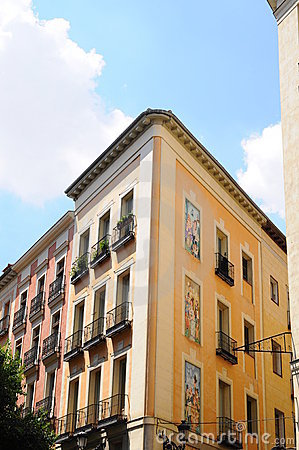 Specific architecture in the center of Madrid, Spa