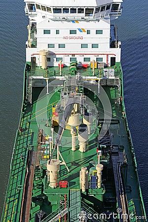 Specificerar av en tankfartyg
