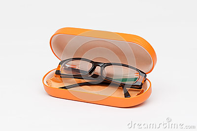 Spectacle case with eye glasses