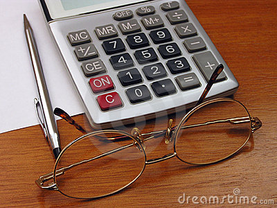 Spectacles and calculator