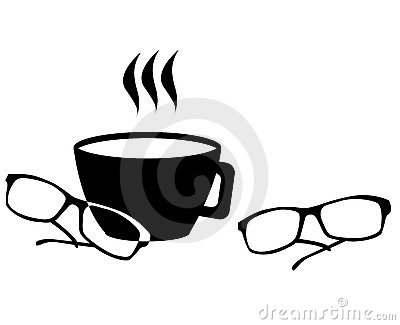 Spectacles and coffe