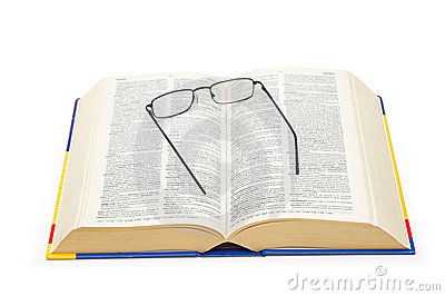 Spectacles over the open dictionary