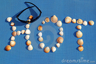 Spectacles, seashells in the manner of word hot
