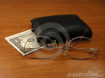 Spectacles and wallet