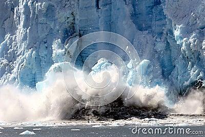 Spectacular calving glacier