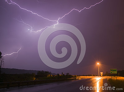 Spectacular Display Lightning Strike Eectrical Storm Thunder