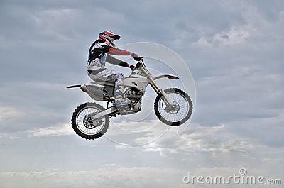 The spectacular jump motocross racer