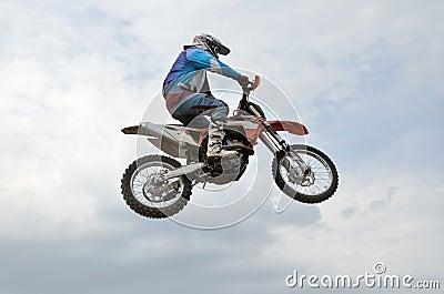 The spectacular jump motocross racer