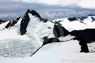 Spectacular Juneau ice field and glacier