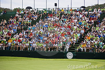 Spectators on the 18th - Day Two Editorial Stock Image