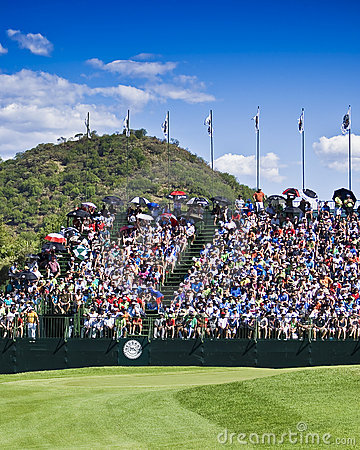 Spectators on the 18th Editorial Stock Image