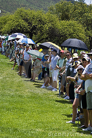 Spectators on the 1st fairway - NGC2010 Editorial Image