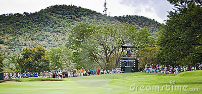 Spectators on the 8th Green - NGC2010 Editorial Image