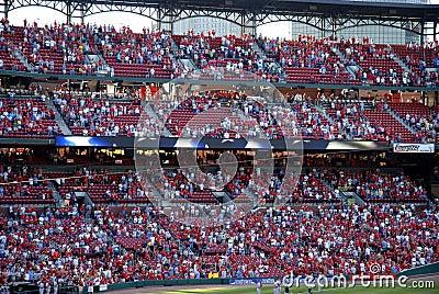 Spectators Busch Stadium Editorial Photo