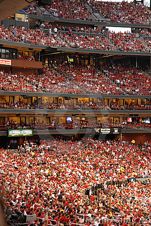 Spectators Busch Stadium Editorial Stock Photo