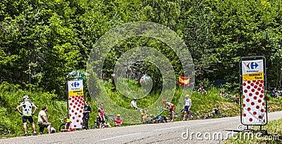 Spectators of Le Tour de France Editorial Image