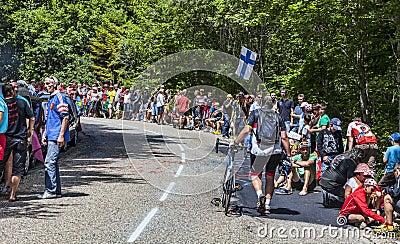 Spectators of Le Tour de France Editorial Photography