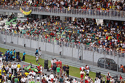 Spectators at the main grandstand Editorial Photography