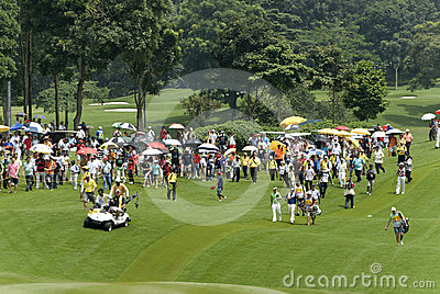 Spectators of Maybank Malaysian Open 2012 Editorial Image
