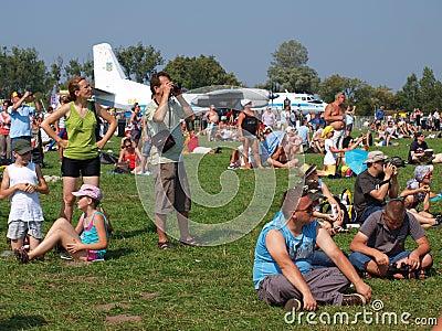 Spectators, Radom, Poland Editorial Stock Photo