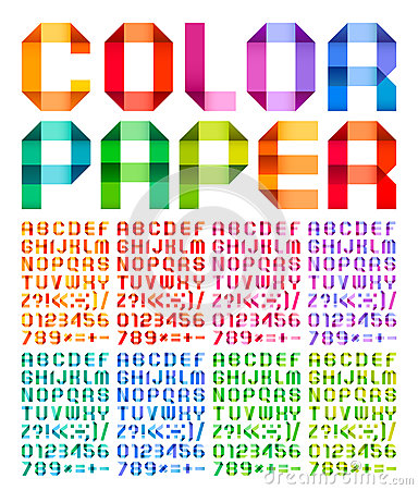 Free Spectral Alphabet Folded Of Paper Ribbon Colour Royalty Free Stock Photography - 29634077