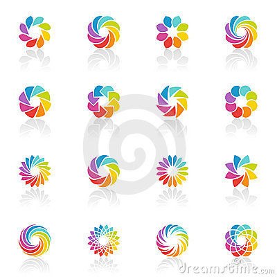 Spectral fantasies. Vector logo template set.