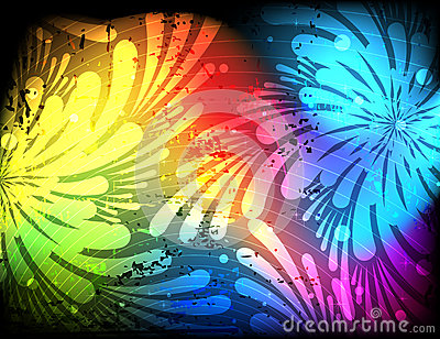 Spectral floral abstract silhouettes