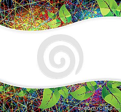 Spectral floral background