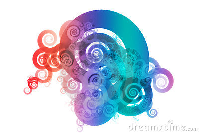 Spectrum Color Blend Abstract Design Background
